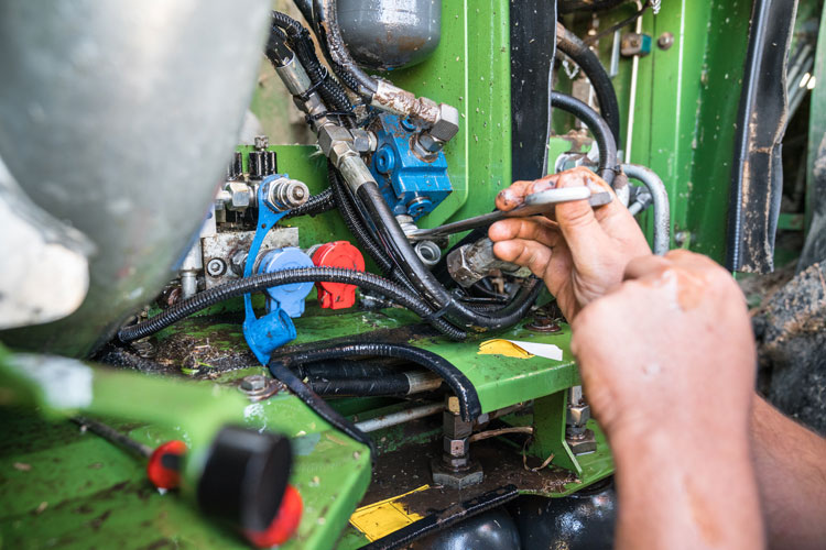 fixing agricultural equipment