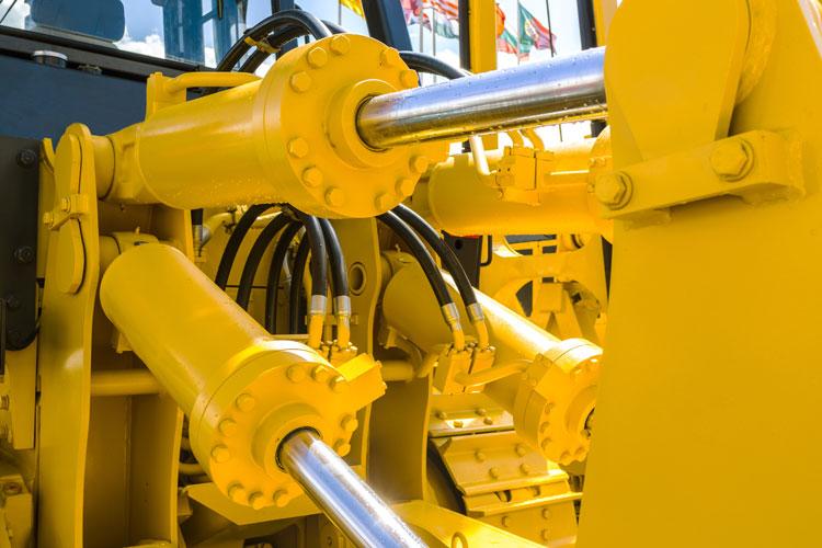 hydraulic ram on construction equipment